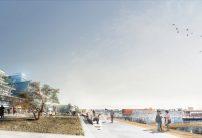 Perspective de l'espace public de la corniche minérale