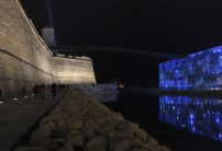 View of the MUCEM and the Fort-Saint-Jean at night