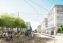 Le tramway au centre ville de Montfermeil