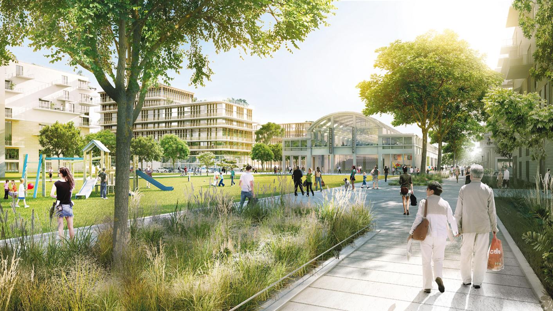 Projet urbain atl architectes urbanistes paysagistes for Asnieres sur seine piscine