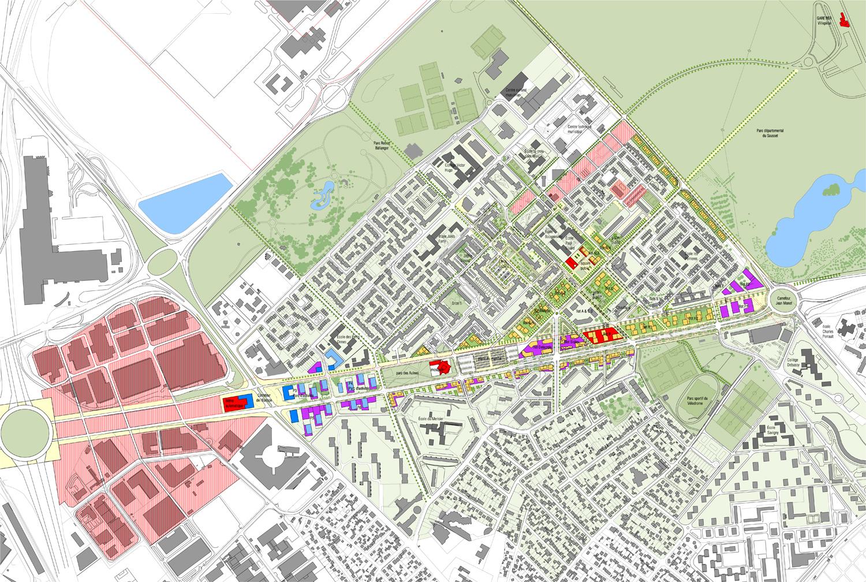 Quartiers Nord ATL, architectes urbanistes paysagistes # Pole Emploi Aulnay Sous Bois