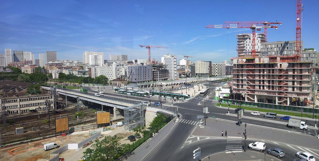 Avancement des travaux mass na bruneseau paris xiii atl for Bureau de change paris 13 avenue d ivry