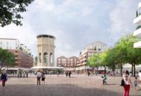 La place du château d'eau, nouvel espace de centralité du quartier